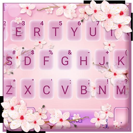 Pink Romantic Sakura Keyboard Theme Icon