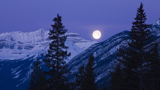 Banff National Park by Moonlight, Rocky Mountains, Alberta, Canada.jpg