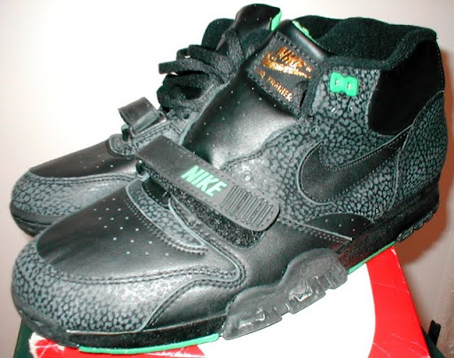 74f5c6ed0a -Not much is known on my end about this colorway. All black with what  appears to be safari print.. Some call the classic air trainer 1 colorways  too plain.
