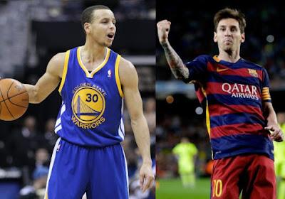 Lionel Messi et Stephen Curry se font des cadeaux