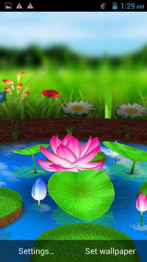 lotus 3d live wallpaper android apps on google play