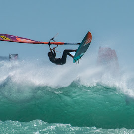 Swept Away by Deon Warrington - Sports & Fitness Surfing ( wind, wavew, surfing, sea, ocean )