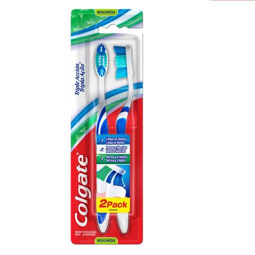 Cepillo Dental Colgate Triple Accion 2 Unid