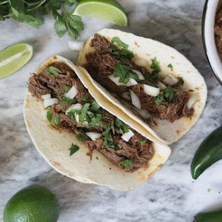 Instant Pot Beef Barbacoa Tacos.