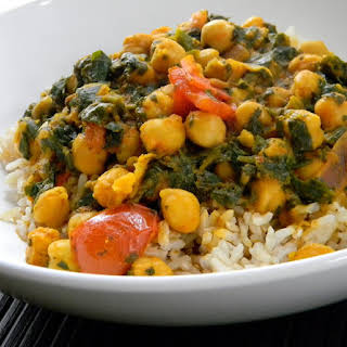 Easy Chick Pea and Spinach Indian Curry.