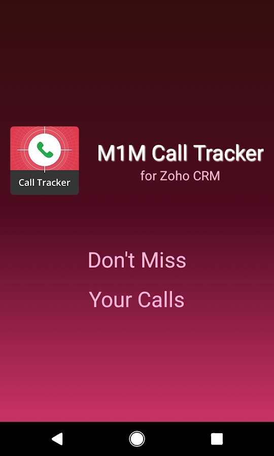 M1M Call Tracker for Zoho CRM- screenshot
