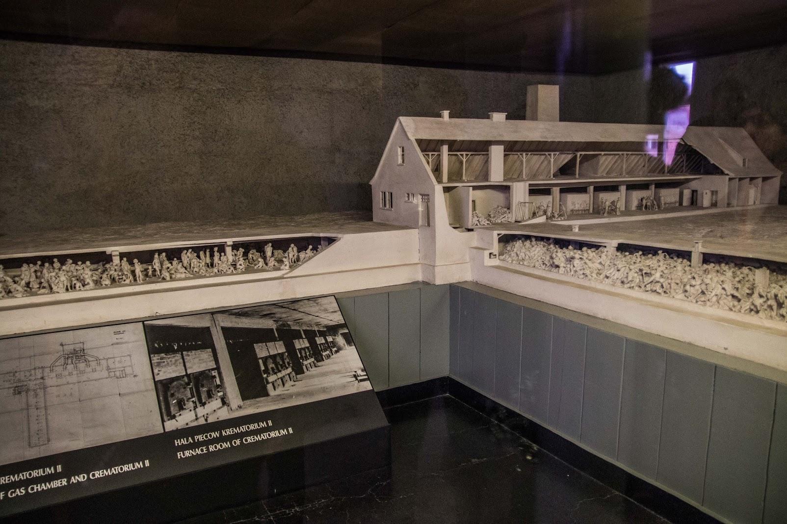 gas chamber crematorium auschwitz model