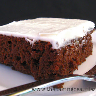 Gluten Free Chocolate Pumpkin Sheet Cake