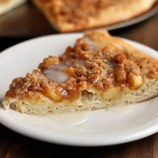 Apple Cinnamon Streusel Dessert Pizza.