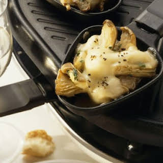 Oyster Mushroom & Cheese Raclette.