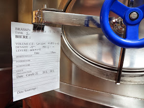 Photo: Lucky us! We got to taste this fabulous collaboration between Saint Somewhere and Brasserie Thiriez while it was being hatched! Can't wait 'til the final product makes it over here to the states! Woo Hoo!