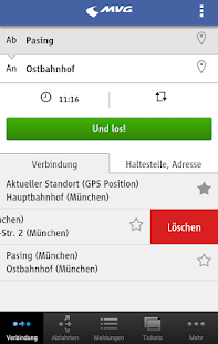 MVG Fahrinfo München - screenshot thumbnail