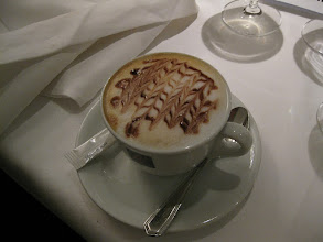 Photo: Cappuccino at the C Five Restaurant in Mannheim.