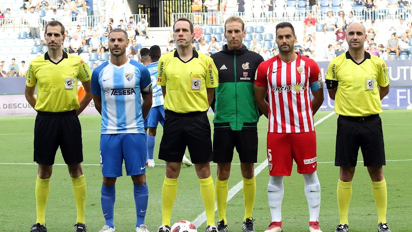 Gorostegui Fernández en el partido copero entre Málaga y Almería.