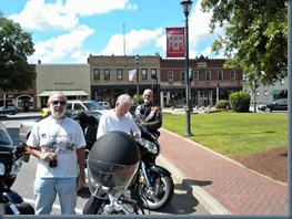 End of the escorting bikers - Washington, GA