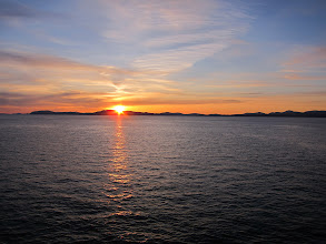 Photo: Sunset, Inside Passage