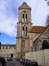 Photo: Now wandering into town, and coming on the Eglise St Pierre, dating back to the 12th century (but bell tower from the 16th).