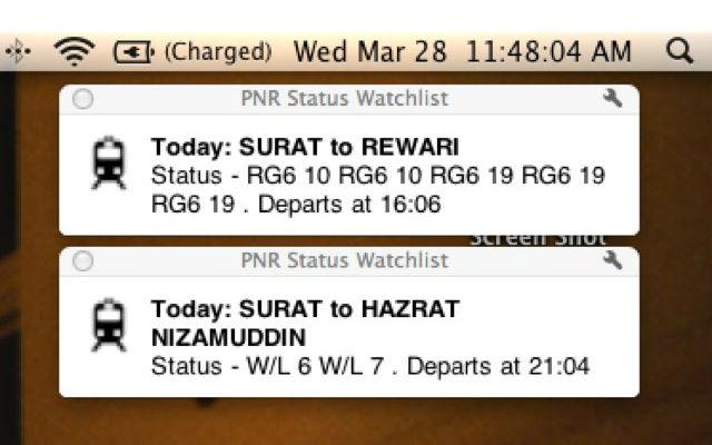 PNR Status Watchlist