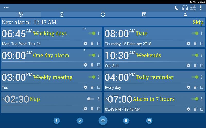 Alarm Clock & Timer & Stopwatch & Tasks & Contacts Screenshot 8