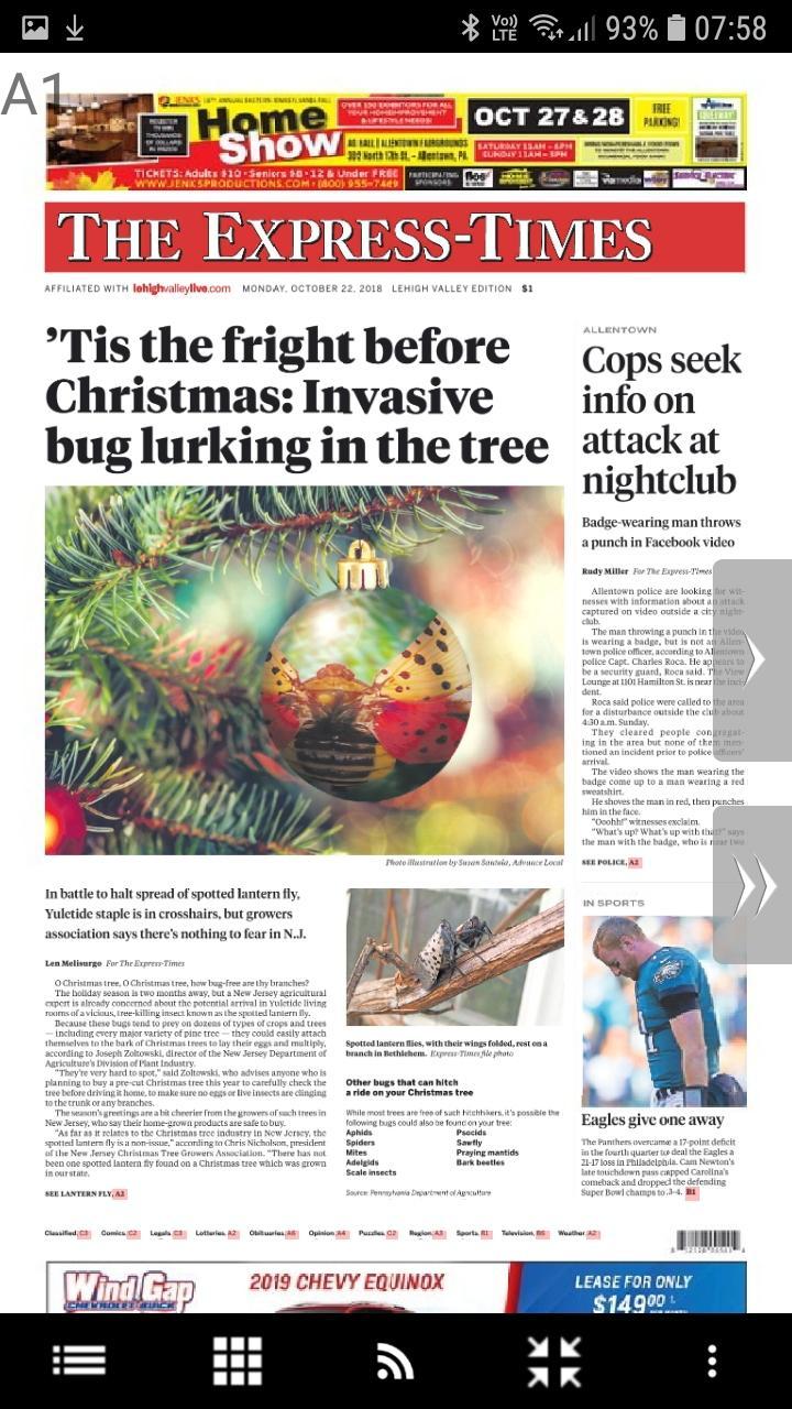 Скриншот Easton Express-Times