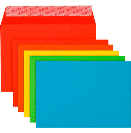 Kuvert mix färg C6 20st/fp