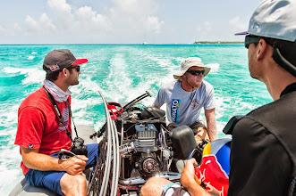 Photo: Mathieu, our captain, takes us to the coast