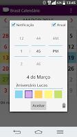 Screenshot of Brasil Calendário 2016
