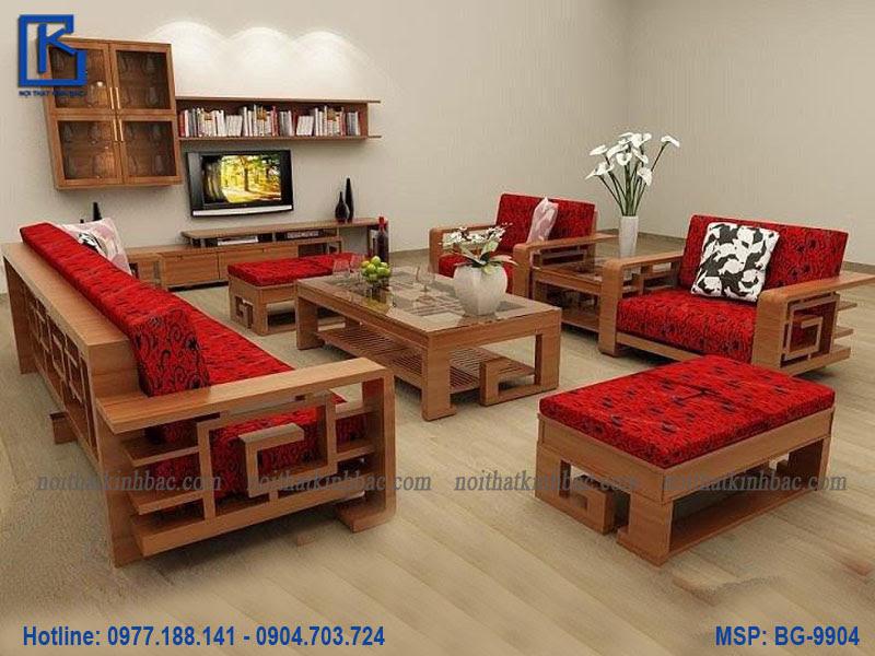 Bàn ghế gỗ phòng khách đẹp BG-9904