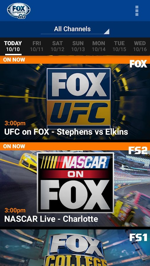 FOX Sports GO- screenshot