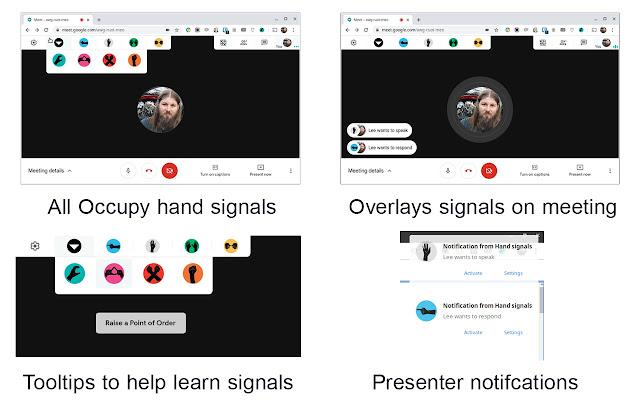 Hand Signals - Hand signals for Google Meet