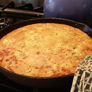 Skillet Corn Bread with Sage and Onions for Thanksgiving