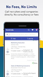 Job Search App - Free Direct HR Contact: WorkIndia Screenshot