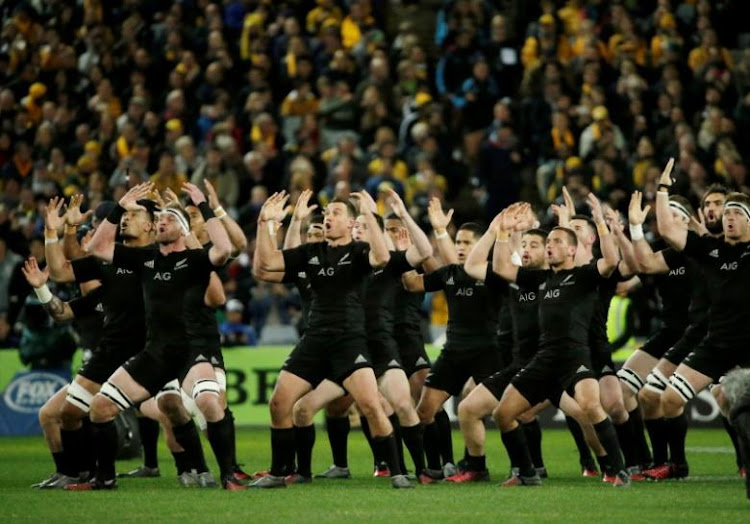 The All Blacks perform the haka. Picture: Reuters