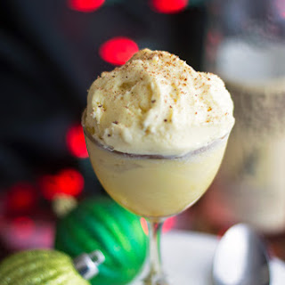 Homemade Bourbon Eggnog Ice Cream.