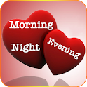 Good Morning Evening Night Pictures GIF and Quotes icon