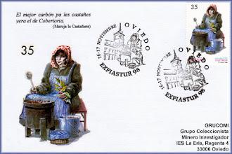 Photo: Matasellos de Exfiastur 1998 con la castañera en Oviedo