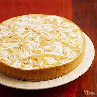 No-Bake Pumpkin Swirl Cheesecake.