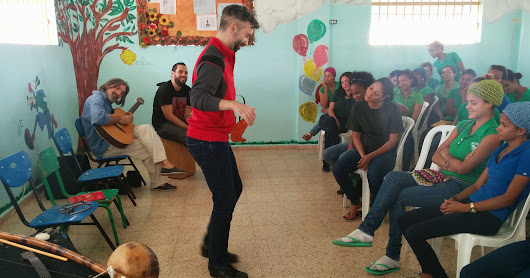 Cultural Entrepreneurship and performance for female inmates at Najayo jail with TED Fellow and tap dancer Andrew Nemr, artist Marcelo Ferder and Percussionist Edgar Molina