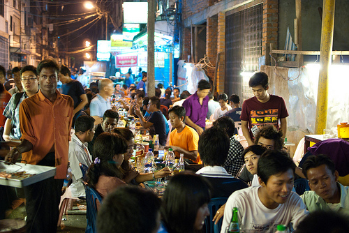 Night Market in Chinatown, Yangon, Myanmar