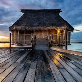Bungalow 15 by Rebecca Ramaley - Buildings & Architecture Office Buildings & Hotels ( pearl beach, tahiti, sunrise, tikehau, bungalow, overwater )