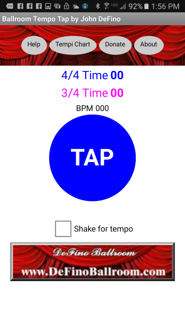 Ballroom Tempo Tap- screenshot