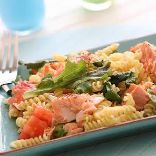 Salmon and Kale Pasta.
