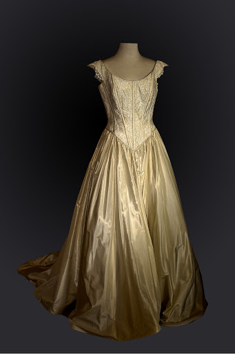 Gold Vintage Bridal Gown / Wedding Dress