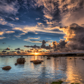by Bent Velling - Landscapes Waterscapes ( water, clouds, canon 6d, benro, rocks, norway )