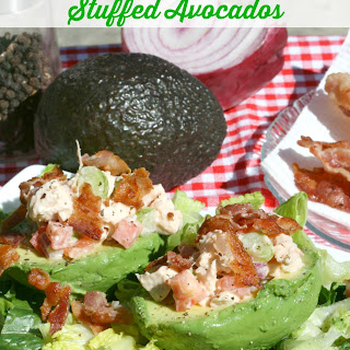BLT Chicken Salad Stuffed Avocados