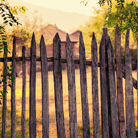 Sunset memories by Florin Gorgan - Landscapes Prairies, Meadows & Fields ( fence, nature, sunset, summer, memories, landscape )