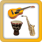 Music instruments and sounds icon