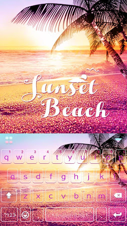 Sunset Beach Kika Keyboard 24.0 screenshot 1271844