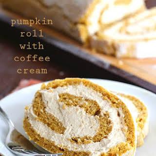 Pumpkin Roll with Coffee Cream.
