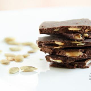 Dark Chocolate Roasted Pumpkin Seed Bark (gluten-free, vegan option)
